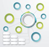 Abstract  paper circle infographics with options template. Can be used for diagram, data,  step options, banner, web design Stock Image