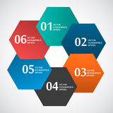 Abstract Paper Circle Shape Hexagon Based Royalty Free Stock Photos