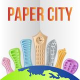 Abstract paper city! Vector illustration! royalty free stock images