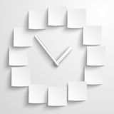 Abstract paper clock Stock Images