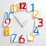 Abstract paper clock Stock Photography