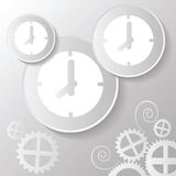 Abstract paper clock Royalty Free Stock Image