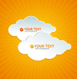 Abstract paper cloud like speech bubble Stock Photo