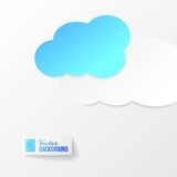 Abstract paper clouds background Stock Photos