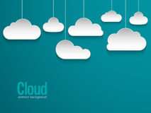 Abstract paper clouds background. Stock Image