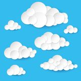 Abstract paper clouds Stock Photography