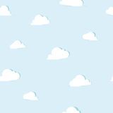 Abstract paper clouds seamless pattern Royalty Free Stock Images