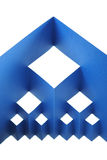 Abstract paper composition with cutout rhombus Royalty Free Stock Photo