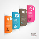 Abstract paper cut infographics number template. Royalty Free Stock Image