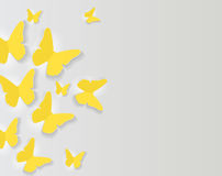Abstract Paper Cut Out Butterfly Background. Vector Illustration Royalty Free Stock Photos