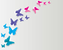 Abstract Paper Cut Out Butterfly Background. Vector Illustration. EPS10 royalty free illustration