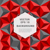 Abstract paper 3D geometric background. vector illustration