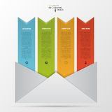 Abstract paper envelope infographics template. Vector.  Stock Photo