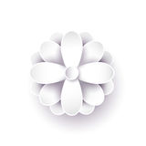 Abstract paper flower. 3d vector. Stock Photography