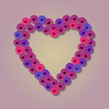 Abstract paper Flower. Heart Quilling Royalty Free Stock Images