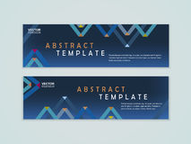 Abstract paper folded pattern background for banners set. Template Stock Photography
