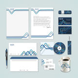 Abstract paper folded pattern background for corporate identity set Stock Photography