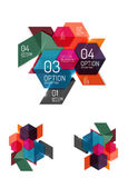 Abstract paper geometric infographic templates. For business background, presentation or message with options and buttons Royalty Free Stock Photography