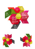 Abstract paper geometric infographic templates. For business background, presentation or message with options and buttons Royalty Free Stock Image