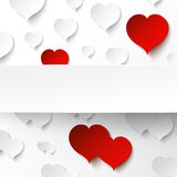 Abstract paper heart background Stock Photos