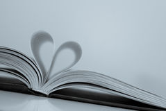 Abstract - paper heart from book sheets - romantic mood Royalty Free Stock Photos