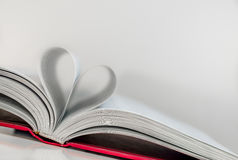 Abstract - paper heart from book sheets - romantic mood Royalty Free Stock Photo