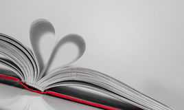 Abstract - paper heart from book sheets - romantic mood Stock Images