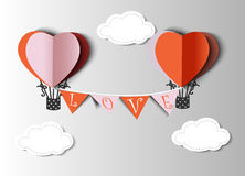 Abstract paper heart for St.Valentine Day Stock Photo