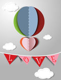 Abstract paper heart for St.Valentine Day Royalty Free Stock Image