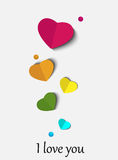 Abstract paper heart for St.Valentine Day Royalty Free Stock Photos