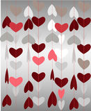 Abstract paper heart for St.Valentine Day Stock Image