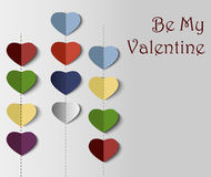 Abstract paper heart for St.Valentine Day Royalty Free Stock Photography