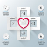 Abstract paper hearts Valentines day. Abstract 3D digital illust Royalty Free Stock Photography