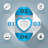 Abstract paper hearts Valentines day. Abstract 3D digital illust Royalty Free Stock Images