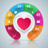Abstract paper hearts Valentines day. Royalty Free Stock Photo