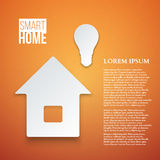 Abstract Paper Home Icon  Vector. Illustration Royalty Free Stock Images