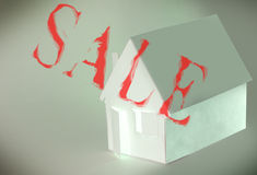abstract  Paper house Royalty Free Stock Images