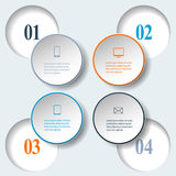 Abstract paper infografics. Internal and external data concept Royalty Free Stock Photo