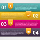 Abstract paper infographic with curled ribbons. Modern design template. Stock Image