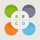 Abstract paper infographic. Design elements. Stock Image