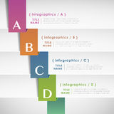 Abstract paper infographic elements Royalty Free Stock Photo
