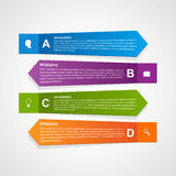 Abstract paper infographic template. Vector illustration Stock Images