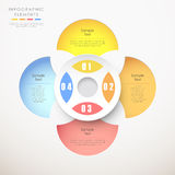 Abstract paper infographics. Abstract paper infographic elements with white background Stock Photos
