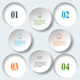 Abstract paper infographics. Internal and external data concept Royalty Free Stock Photography