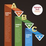 Abstract paper infographics. Vector abstract 3d paper infographic elements Stock Photography
