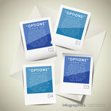 Abstract paper infographics Royalty Free Stock Images