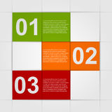 Abstract paper infographics Stock Photo