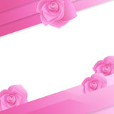 Abstract paper invitation with rose Stock Photos