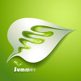 Abstract paper leaf. With green elements royalty free illustration