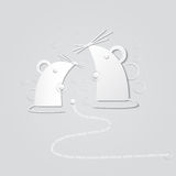 Abstract paper mouse Stock Photos